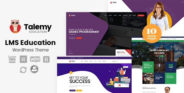 Talemy v1.1.10 — LMS Education WordPress Theme