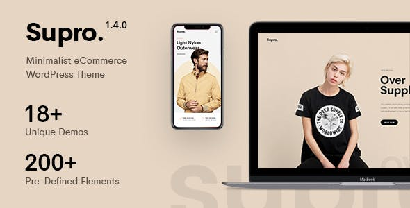 Supro v1.5.0 — Minimalist AJAX WooCommerce WordPress Theme