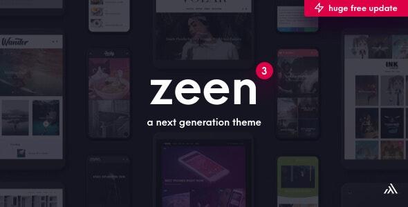 Zeen v3.5.0 — Next Generation Magazine WordPress
