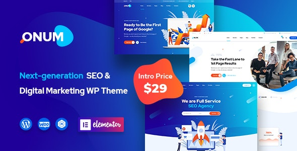 Onum v1.0.2 — SEO & Marketing Elementor WordPress Theme