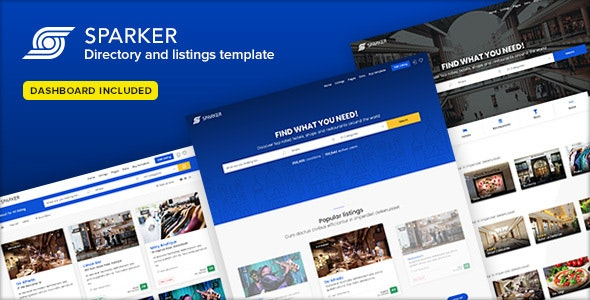 Sparker v1.5 — Directory and Listings Template