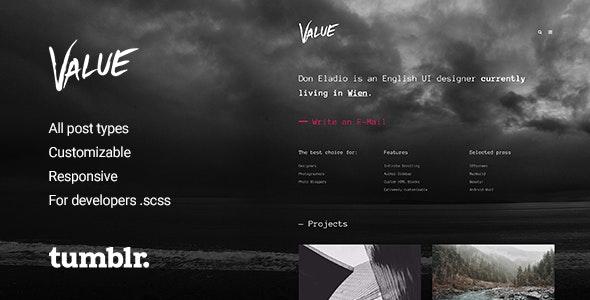 Value v2.0.4 — Portfolio Theme for Tumblr
