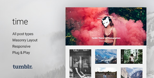 Time v2.0.0 — Photography Grid Tumblr Theme