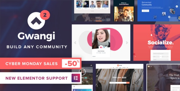 Gwangi v2.2.1 — PRO Multi-Purpose Membership, Social Network & BuddyPress Community Theme