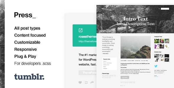 Press v1.0 — Premium Blogging Tumblr Theme