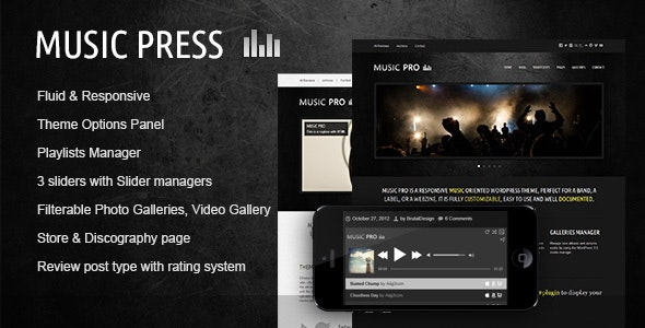 MusicPress v3.3.1 — A Timeless Audio Theme