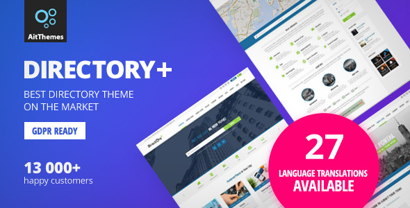 Directory+ v2.72 — WordPress Theme