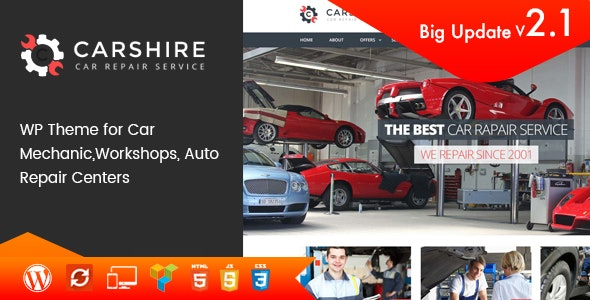 Car Shire v2.3 — Auto Mechanic & Repair WordPress Theme