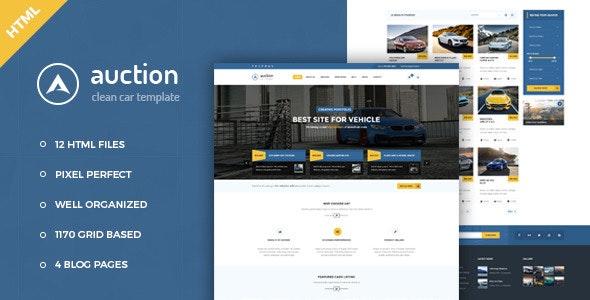 Auction v1.0 — Car Dealer & Mechanic HTML Template