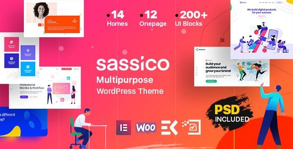 Sassico v1.4 — Multipurpose Saas Startup Agency WordPress Theme