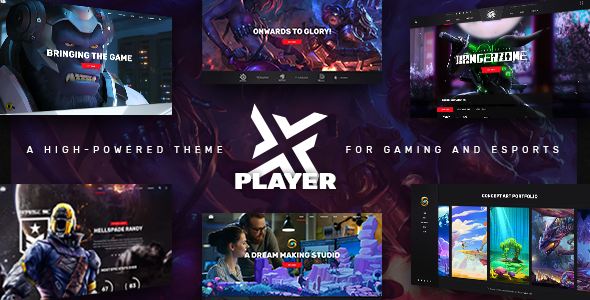PlayerX v1.8 — A High-powered Theme for Gaming and eSports