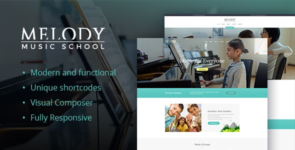 Melody v1.6.3 — School of Arts & Music School WordPress Theme