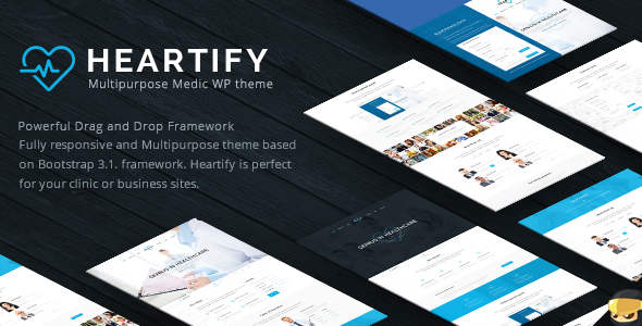 Heartify v1.2 — Medical Health and Clinic WordPress Theme