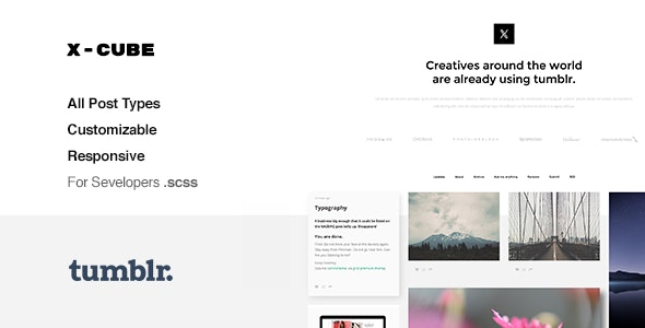 X-Cube v1.2.4 — Portfolio, Grid-Based Tumblr Theme