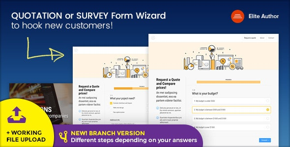 Quote v1.8 — Quotation or Survey Form Wizard