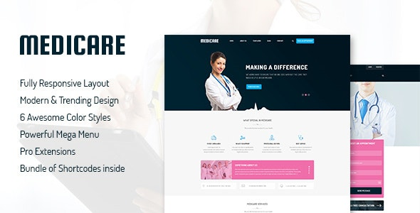 Medicare v3.9.6 — Responsive Joomla Template For Medical Service Website