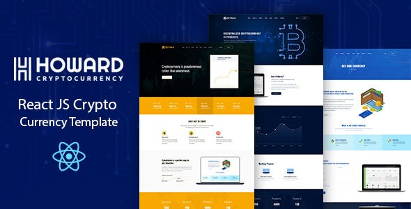 Howard — React JS Crypto Currency Template
