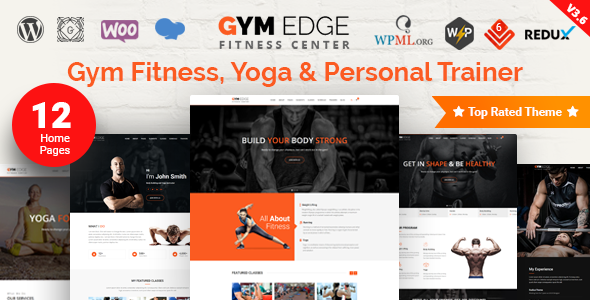 Gym Edge v3.7.3 — Gym Fitness WordPress Theme