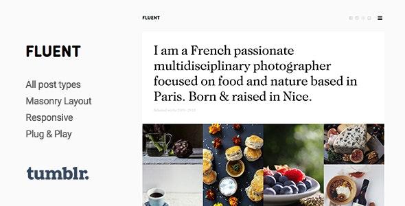 Fluent v1.3.2 — Premium Portfolio Tumblr Theme