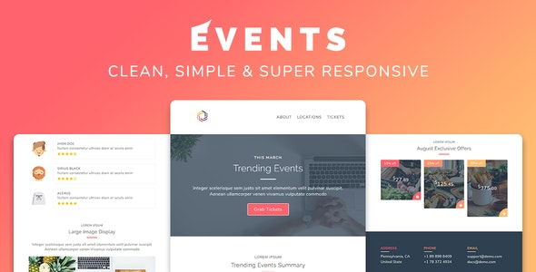 Events v1.0 — Responsive Multipurpose Email Template