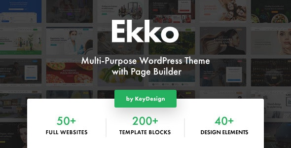 Ekko v1.3 — Multi-Purpose WordPress Theme with Page Builder