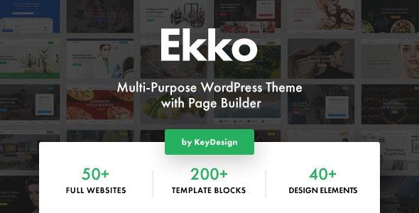 Ekko v1.3 — Multi-Purpose WordPress Theme with Page Builder