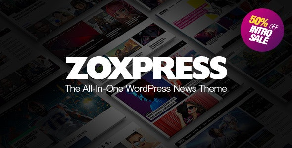 ZoxPress v1.01.0 — All-In-One WordPress News Theme
