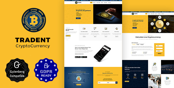 Tradent v1.8 — Bitcoin, Cryptocurrency Theme