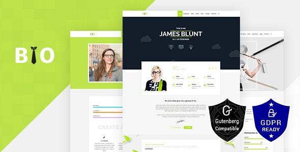 Bio v1.7 — Resume, CV, Freelancer WordPress Theme
