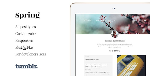 Spring v1.4.1 — Two Column Portfolio Tumblr Theme