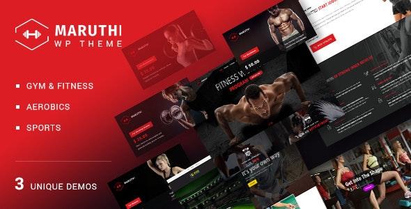 Maruthi Fitness v1.9 — Fitness Center WordPress Theme