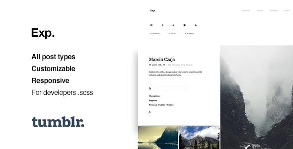 Exp v1.2.2 — Minimalist Portfolio Tumblr Theme