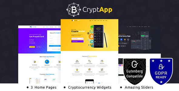 CryptApp Landing Page v1.8 — Cryptocurrency Theme