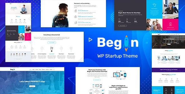 Begin v1.9 — Startup, SaaS WordPress Theme