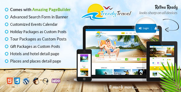 Trendy Travel v4.5 — Multipurpose Tour Package WP Theme