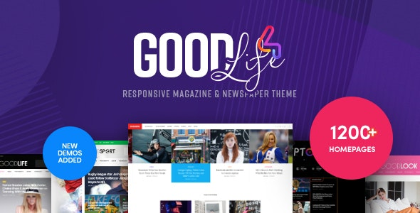 GoodLife v4.1.7.1 — Responsive Magazine Theme