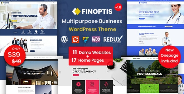 Finoptis v2.2 — Multipurpose Business WordPress Theme