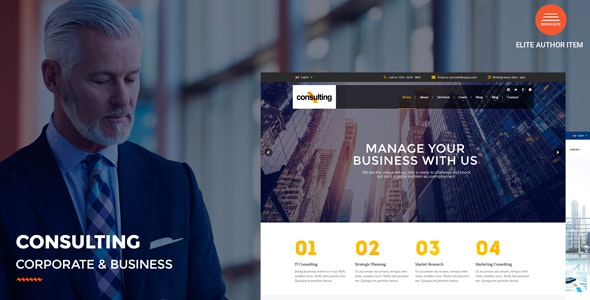 Consulting v2.9 — Corporate and Business WordPress Theme