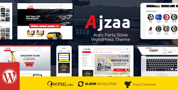 Ajzaa v2.4.2 — Auto Parts Store WordPress Theme