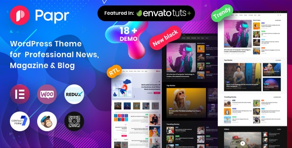 News Magazine Papr v1.2.5 — News Magazine WordPress Theme