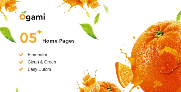 Ogami v1.15 — Organic Store & Bakery WordPress Theme