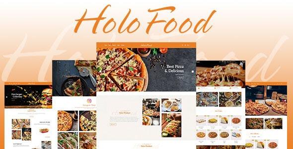 HoloFood v1.0 — Fast Food & Restaurant Shopify Theme