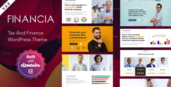 Financia v2.0 — Tax and Finance WordPress Theme