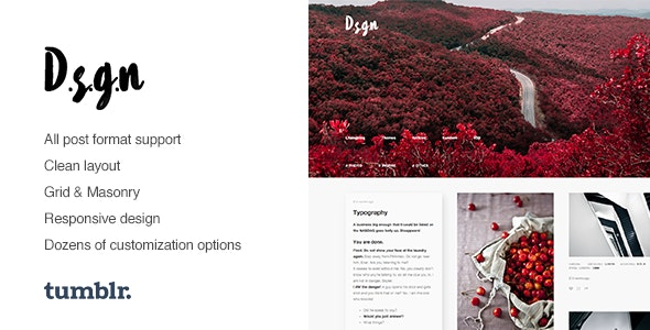 D.S.G.N v1.0.6 — Grid-Based, Gallery Tumblr Theme