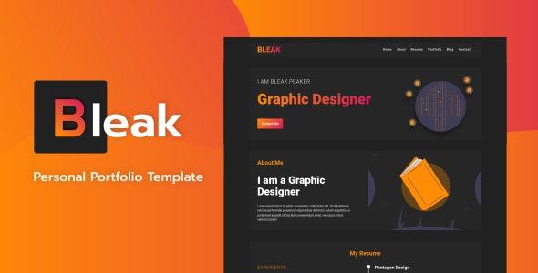 Bleak v1.0 — Personal Portfolio Template